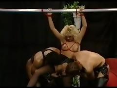Vintage porn film with German MILFs fucking