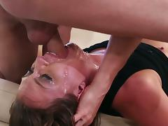 Maddy O'Reilly accepts the Throated challge