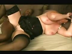 White whife interracial bareback gangbang 2