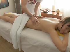 Slutty bitch rides cock after erotic massage