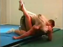 mixed wrestling fbb Christine Fetzer scissors part 2