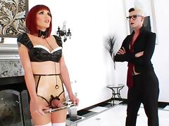 Tranny Babe Fisted By Shemale Sex Master In Latex Fetish