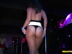 Hardcore group sex video with sluts riding cocks in a club