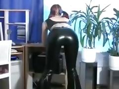 Sexy Redhead Sub Sucks and Bonks