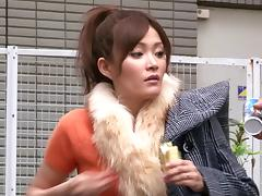 Japanese MILF Rin Ninomiya is being fingered before rammed in a reality clip