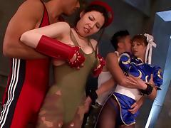 Asian babe enjoys cosplay and gets fucked in Chun Li costumes