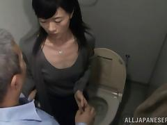 Toilet, Asian, Doggystyle, Horny, Japanese, Mature