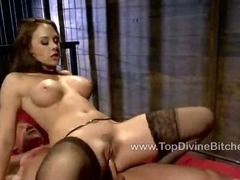 Miss Preston humiliates her slave Troy