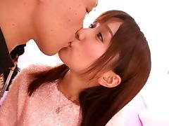 Minami Kojima lets a guy lick her Asian crotch and fuck it from behind