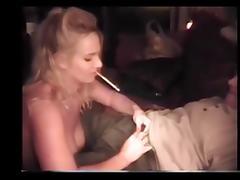 Hot Amateur Cougar Smoking Lapdance