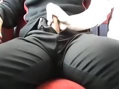 Cook Jerking + fucking in the teach - Ficken + blasen im Zug