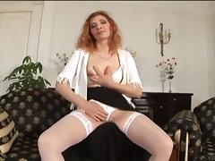 Mature hooker sucking dick and getting cunt banged in nylons