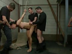 Miss Jade Indica in serious gang bang show