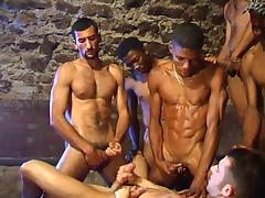 Big black COCKs hard GANGBANGed tight whithe ass