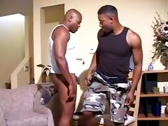 Ebony masculine Gays are involved in nasty anal banging scene