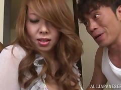 Long haired Japanese milf Yumi Kazama is ready for naughty banging