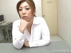 Pretty Asian mature babe Naho Hazuki gets tit fuck in pov action