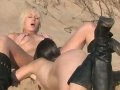 Australian lesbian girls on the beach