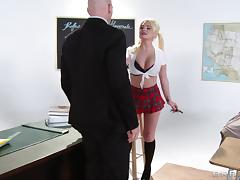 Icy Hot Blonde With Pigtails Getting Ravished With Her College Teacher
