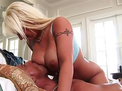 Silicone, Big Tits, Blonde, Blowjob, Boobs, Couple