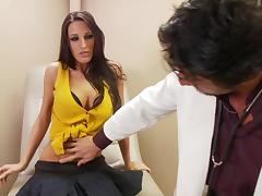 Gorgeous brunette Kortney Kane gets fucked by nasty doctor