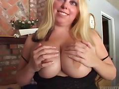 A chubby white girl gets a heavy dose of big black dick