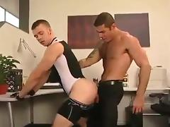 Dad, Gay, Office, Spandex, Old and Young, Dad