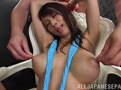 Sexy asian sluttie Ema Kisaki in nasty bdsm bondage and fetish adventure