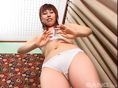 Blistering Japanese pornstar gets a hardcore dick ride