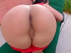 Heart shape asian ass