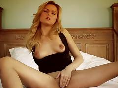Dazzling pornstar in high heels getting fucked hardcore in threesome sex