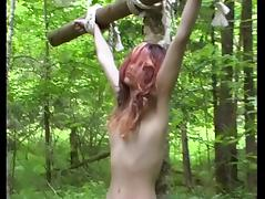 Nature, BDSM, Outdoor, Slave, Lady, Forest