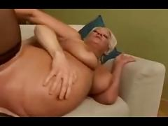 Blonde mature loves deep anal