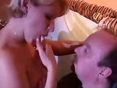 busty psychologist help old man in self-steem
