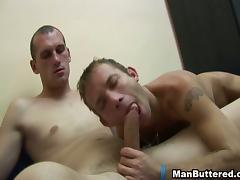 Wild Gay Dude Loves Anal Shower Cum