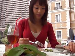 After breakfast this Asian couple has some red hot sex