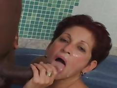 Hairy Tan Mature 60yr takes a BBc in Ass