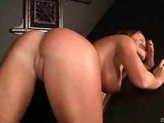 Nikki Delano shows her cock sucking skills in a gloryhole