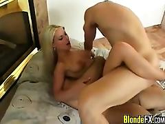 Hot European Blonde Double Penetrated