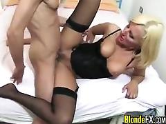 Blonde French Whore With Her Customer