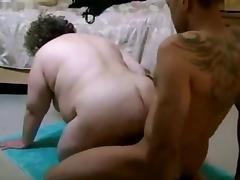 HOT FUCK #164 Married Mature BBW vs. a Black Guy