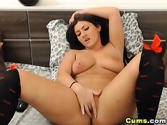 Huge Tits Russian Babe Dildo Masturbation