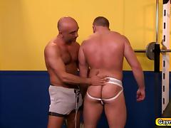 Brian and Shay are hunk daddies feasting on big dick and deep anal fuck