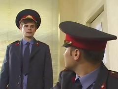 Russian police on guard