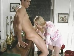 Lovely Blonde With Long Hair Riding Huge Dick Hardcore