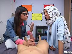 Arab Big Tits, Arab, Big Tits, Boobs, Ffm, Glasses