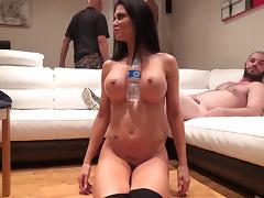 Big tits babe gets a hardcore doggystyle hammering in a close up shoot