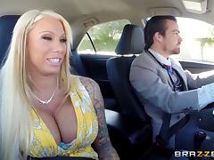 Threatening gang stars robbed pleasure into a tattooed cougar's pussy