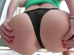 Natural busty slut orgasms like crazy when fucked in the butt