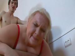 Blonde Russian 50+ BBW Belykova sc2-red bra